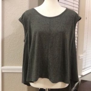 Cotton On Short sleeve olive high low top …